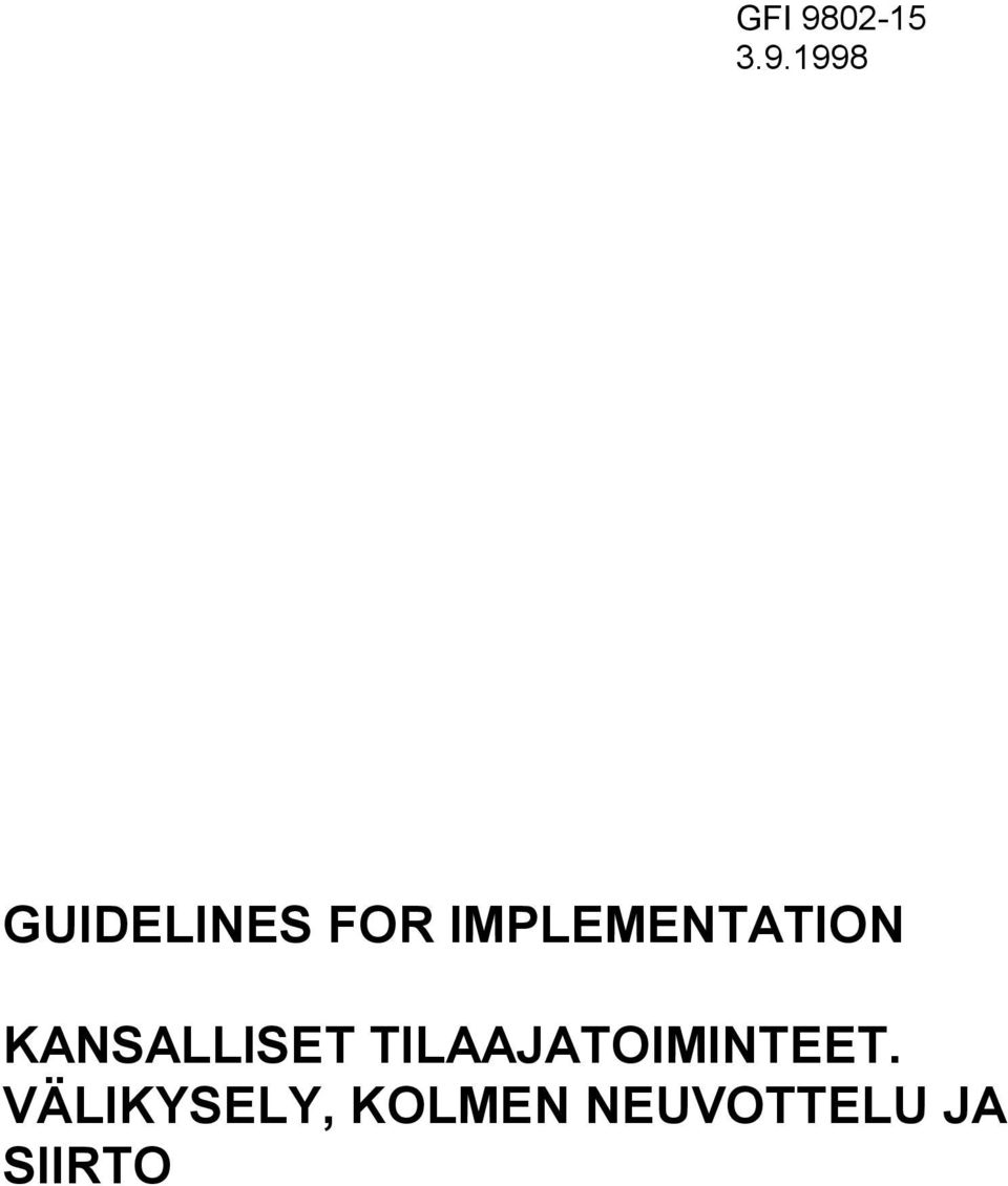 1998 GUIDELINES FOR