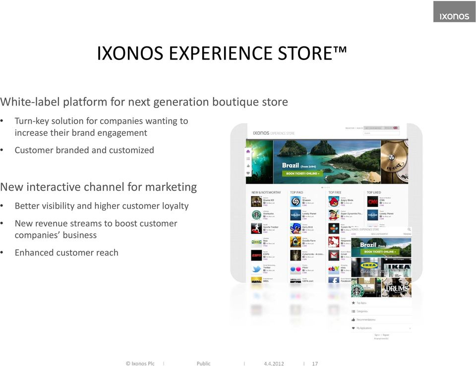 customized New interactive channel for marketing Better visibility and higher customer loyalty