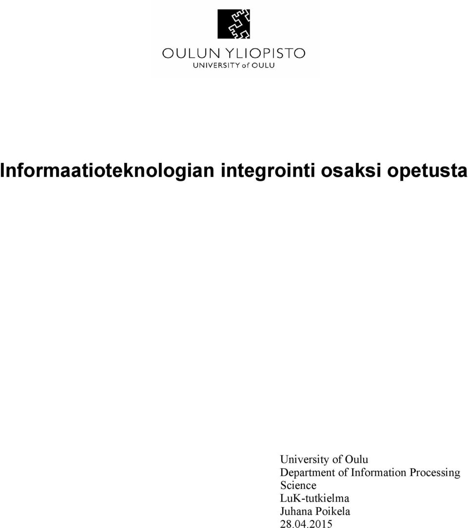 Department of Information Processing