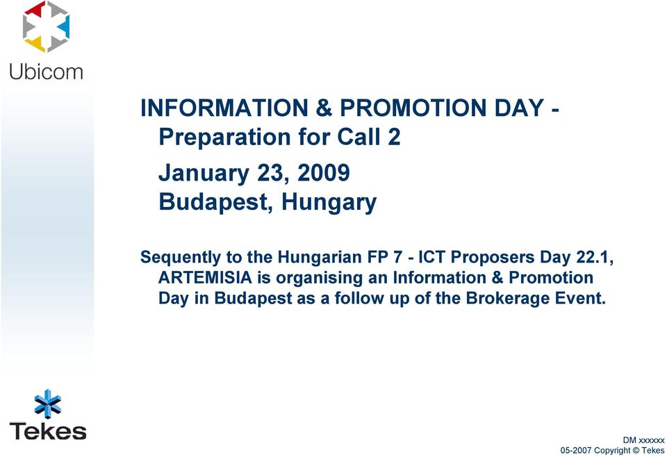 ICT Proposers Day 22.
