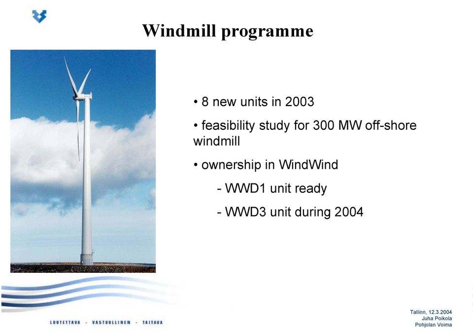 off-shore windmill ownership in