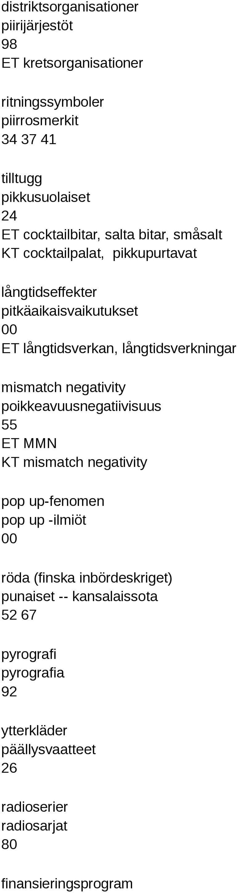 långtidsverkningar mismatch negativity poikkeavuusnegatiivisuus 55 ET MMN KT mismatch negativity pop up-fenomen pop up -ilmiöt röda