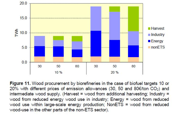 7 Adaptation of the energy system on increased wood