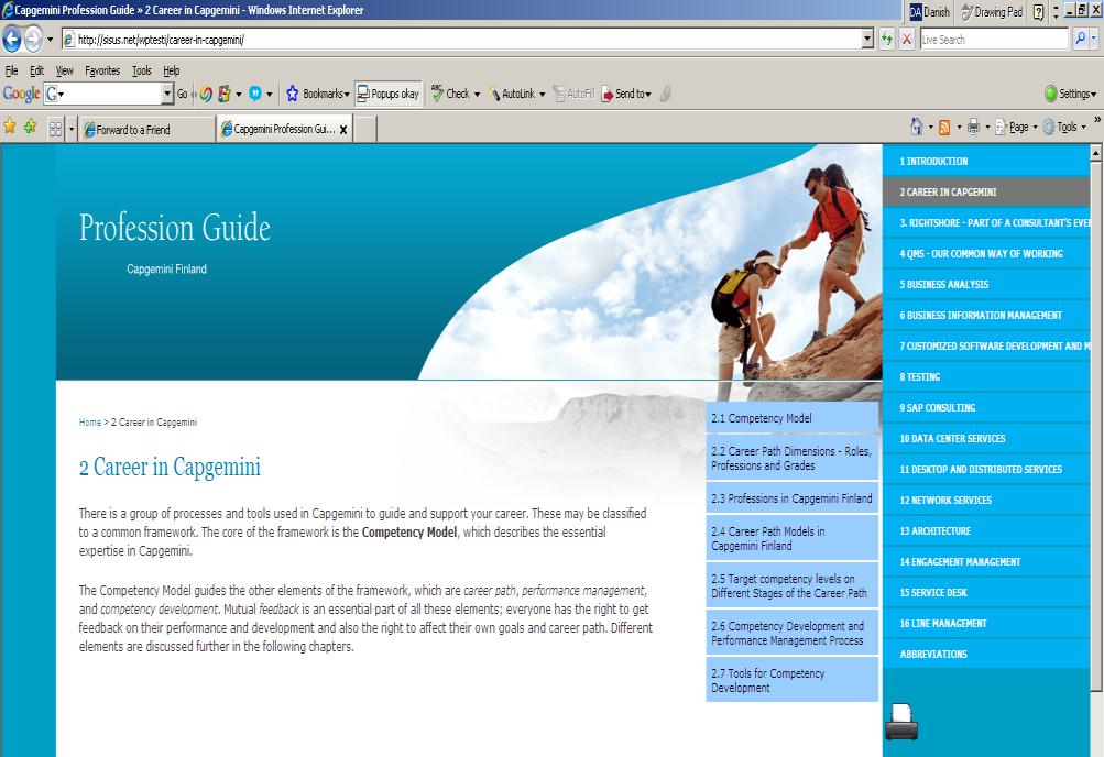 8 Profession Guide supports you in finding your career path within Capgemini Profession What s Guide in it?