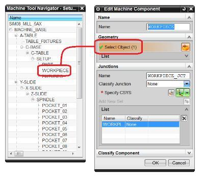 6. Open the Machine Tool Navigator and locate