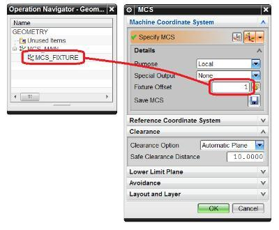 2. Create a manufacturing setup and move the MCS to the