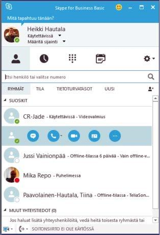 vaatii organisaation Skype For Business