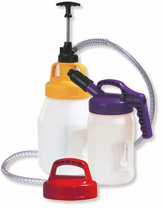 Utility Lid Stretch Spout Mini Spout Stumpy Spout Multi purpose lid with large outlet hole ensures controlled fast pouring of lubricants.