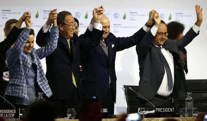 In 2015 195 nations adopt climate agreement: 2 C max,
