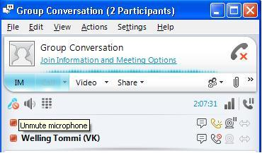 VYVI MEETING Lync Attendee 2010 Instruction 14 (15) 9 Using microphone during meeting It is