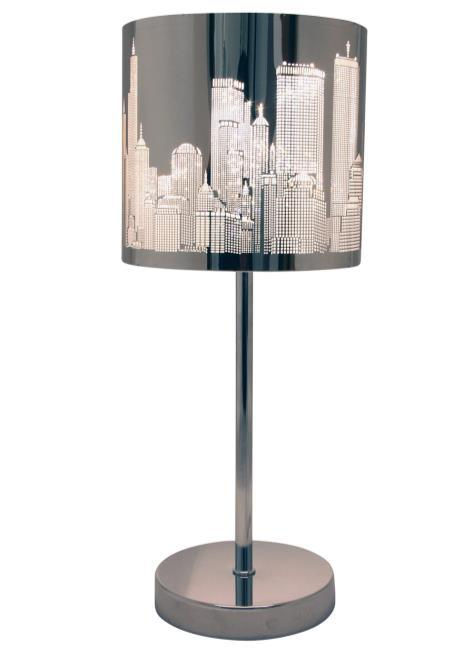CITY 50491-06 Table lamp metal Color : Chrome Dia.
