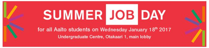 Several organizations presenting their summer job and other opportunities Helen, Sector Alarm, Silicon Labs, Elisa, Nokia,