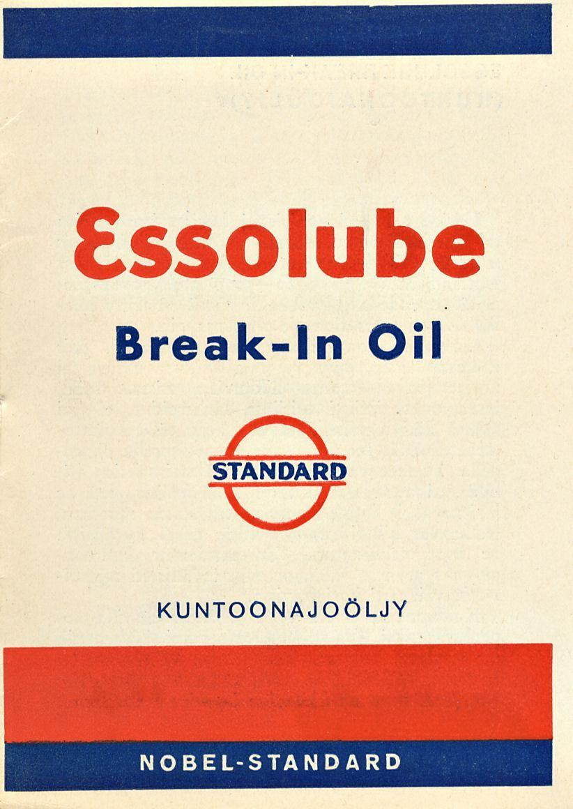 Essolube Break-In Oil
