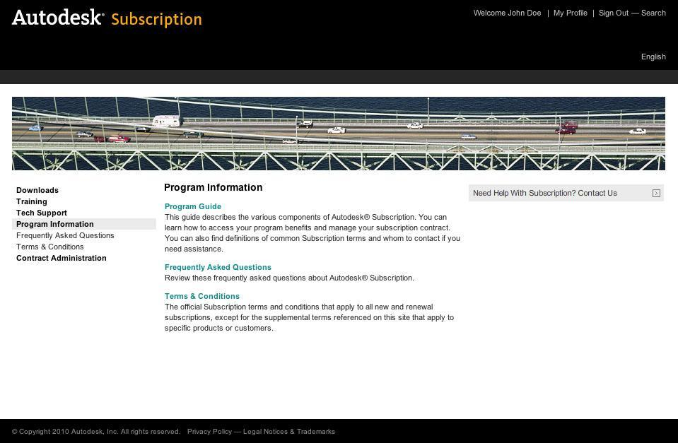 Lue lisää Autodesk Subscriptionista Program Information