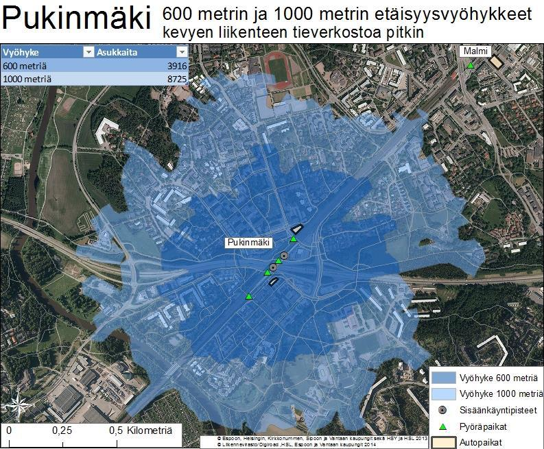 Pukinmäki: 600 m and 1000 m