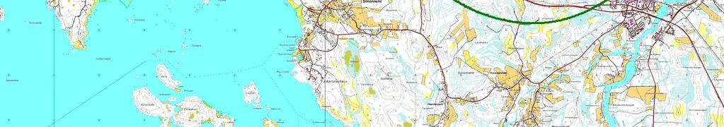 Map: Peruskartat, Print scale 1:9, Map center Finish TM ETRS-TM35FIN-ETRS89 East: 4
