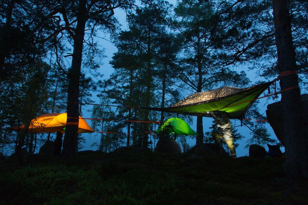 TENTSILE EXPERIENCE NIGHT IN THE TREE GREEN ECO CAMP Eco Camp in the Nuuksio National Park area is called Night in the Tree.