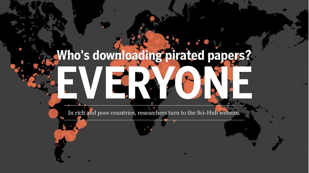 Over the 6 months leading up to March, Sci-Hub served up 28 million documents, with