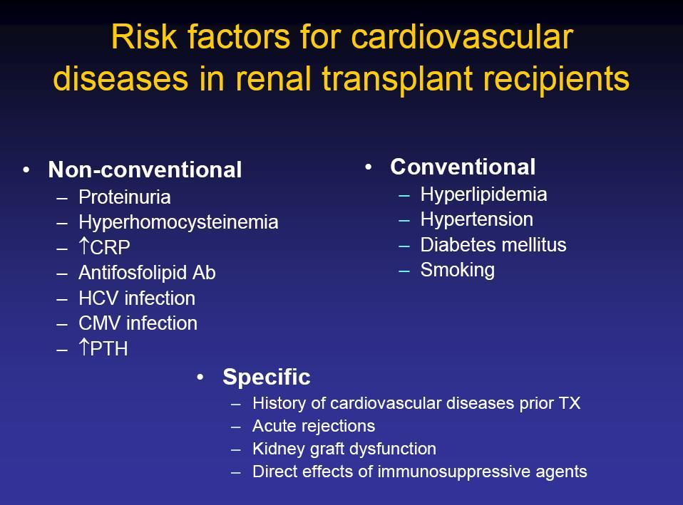Cardiovascular mortality in renal transplant recipients 10 Annual mortality (%) 1 0.