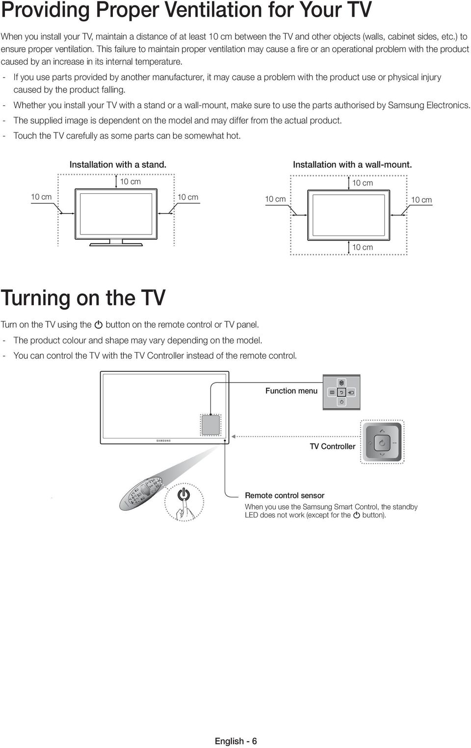 Before Operating Your Samsung Tv Please Read This User Manual Led X 2100 Wiring Diagram If You Use Parts Provided By Another Manufacturer It May Cause A Problem With The