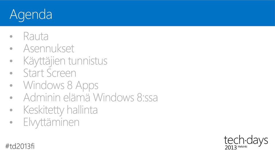 Apps Adminin elämä Windows 8:ssa