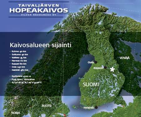 Location Distance to: - Kuhmo 40 km - Sotkamo 40
